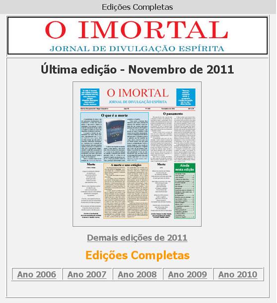 Resultado de imagem para jornal o imortal